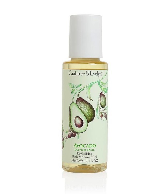 Crabtree & Evelyn Avocado, Olive & Basil Bath & Shower Duschgel 50ml