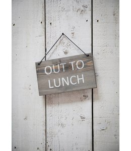 "Deko-Schild ""Out to Lunch"" Vintage"