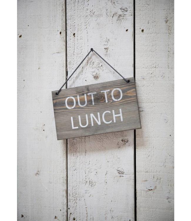 """Deko-Schild """"Out to Lunch"""" Vintage"""