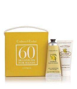 Handtaschen Vintage Citron, Honey & Coriander Mini 60 Second Fix Kit Handpflegeset
