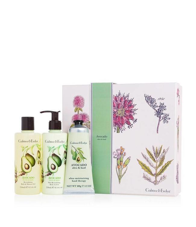 Crabtree & Evelyn Avocado, Olive & Basil Luxury Essentials Geschenkset