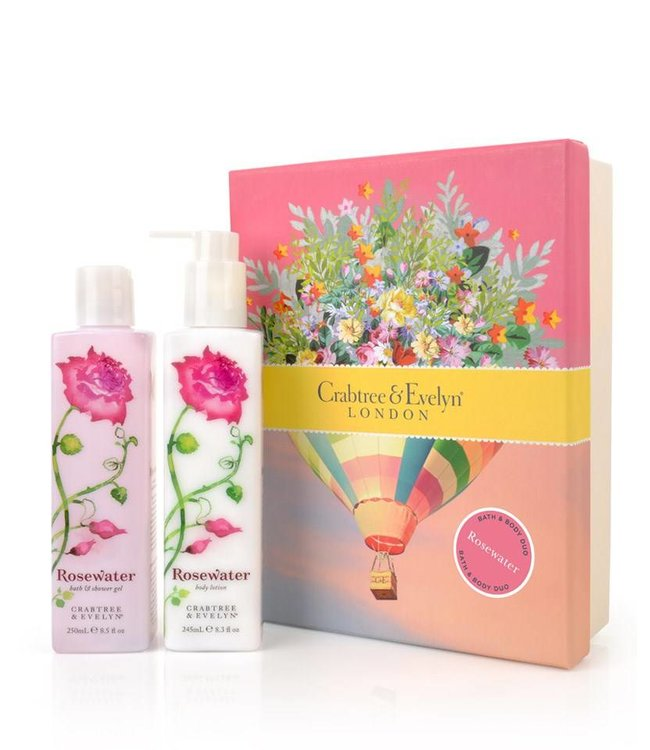 Crabtree & Evelyn Rosewater Bath & Body Duo Geschenkset