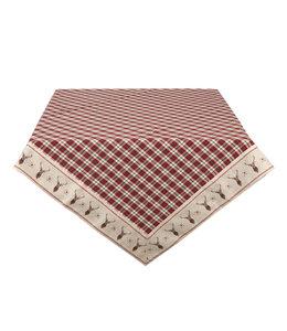 """Tischdecken Vintage Tischdecke """"Edelhirsch"""" Baumwolle 100x100"""