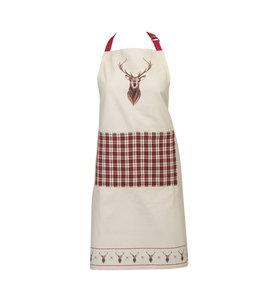 """Küchenschürze """"Edelhirsch"""" Baumwolle Vintage"""