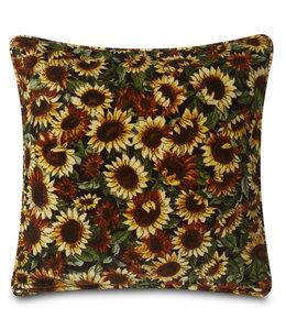 """Kissen Vintage Dekokissen """"Sonnenblumen"""" Baumwollsamt 50x50"""