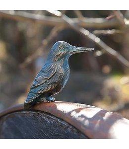 """Gartendeko Vintage Gartenfigur """"Eisvogel"""" Bronze, Vintage-Patina"""