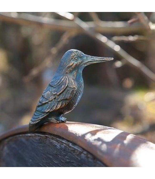 """Gartenfigur """"Eisvogel"""" Bronze, Vintage-Patina"""