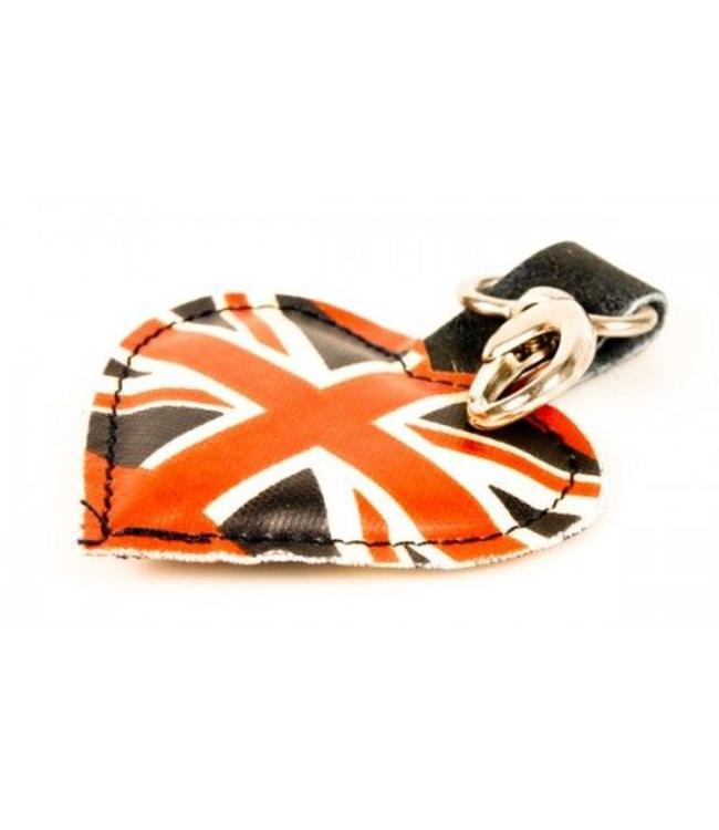 """Schlüsselanhänger Vintage Schlüsselanhänger """"Union Jack"""" Leder"""