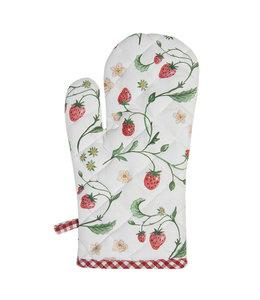 """Ofenhandschuh """"Wald-Erdbeeren"""" Vintage"""