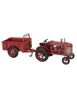 Modelltraktor mit Anhänger, Vintage
