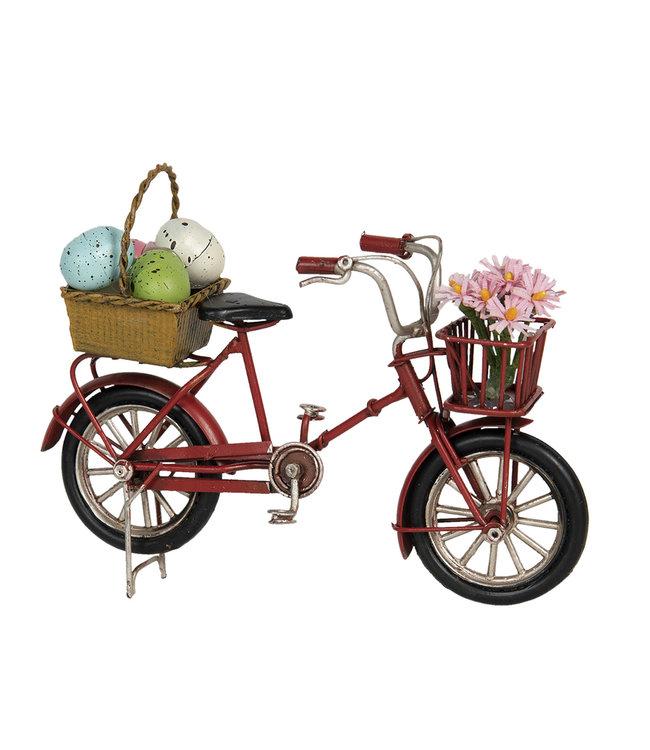 Nostalgisches Fahrrad mit Vintage Osterdeko