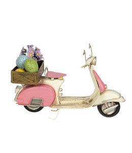 """Osterdeko Vintage """"Motorroller mit Ostereiern"""""""