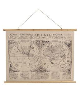 "Wandkarte Vintage ""Weltkarte"" 100 x 75"