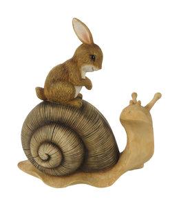 Deko-Schnecke mit Hase, Vintage