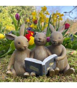 Osterhasenkinder mit Buch, Vintage