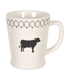 "Kaffeebecher Vintage ""Kuh"" Keramik"