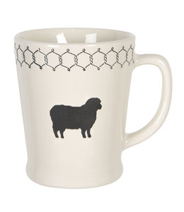 "Kaffeebecher Vintage ""Schaf"" Keramik"