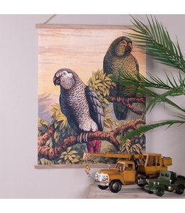 """Wandkarte Vintage """"Papageien"""" 50x65"""