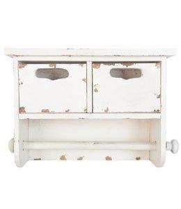 Küchenrollenhalter Vintage, Altweiß