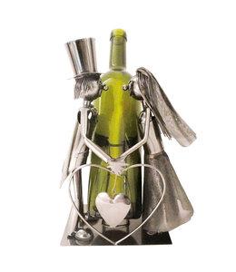 """Hochzeitsdeko Vintage """"Flaschenhalter Brautpaar"""""""