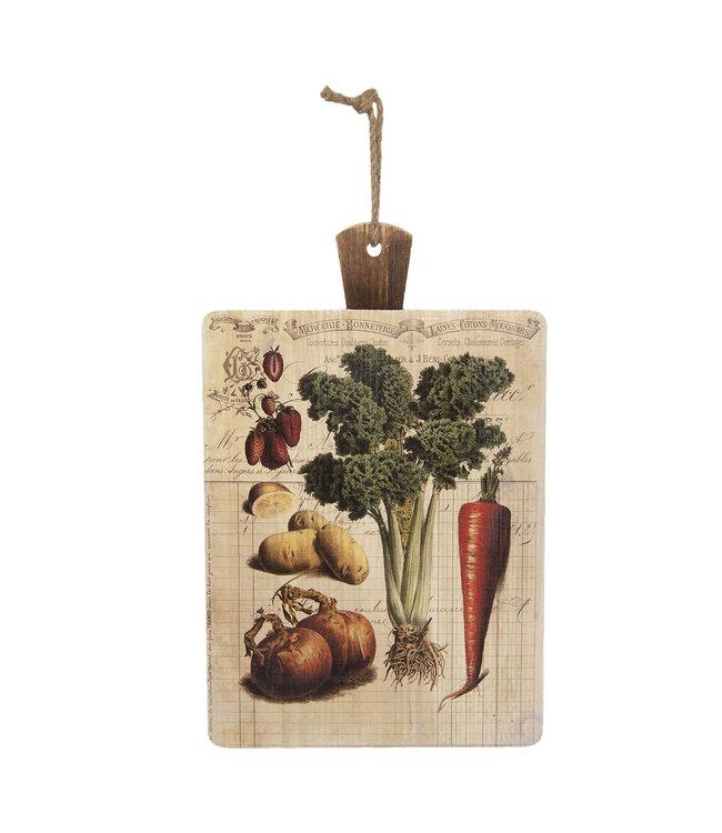 Schneidebrett Vintage für Gartenfreunde