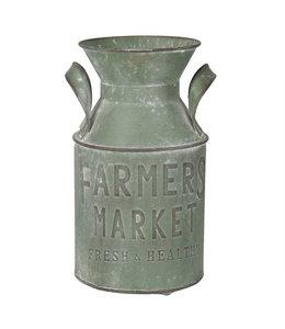 Milchkanne Vintage, Altgrün