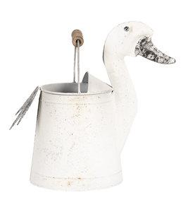 "Deko-Gießkanne Vintage ""Ente"" Altweiß"