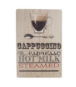 """Deko-Schild """"Cappuccino"""" Vintage"""