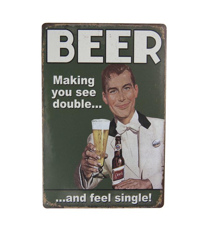 "Deko-Schild ""Beer - Making you see..."" Vintage"