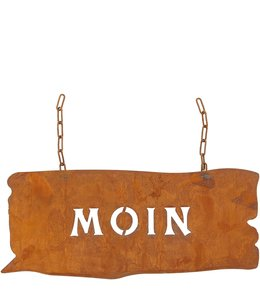 "Gartenschild Rost ""Moin"" Vintage Sonderpatina Edelrost"