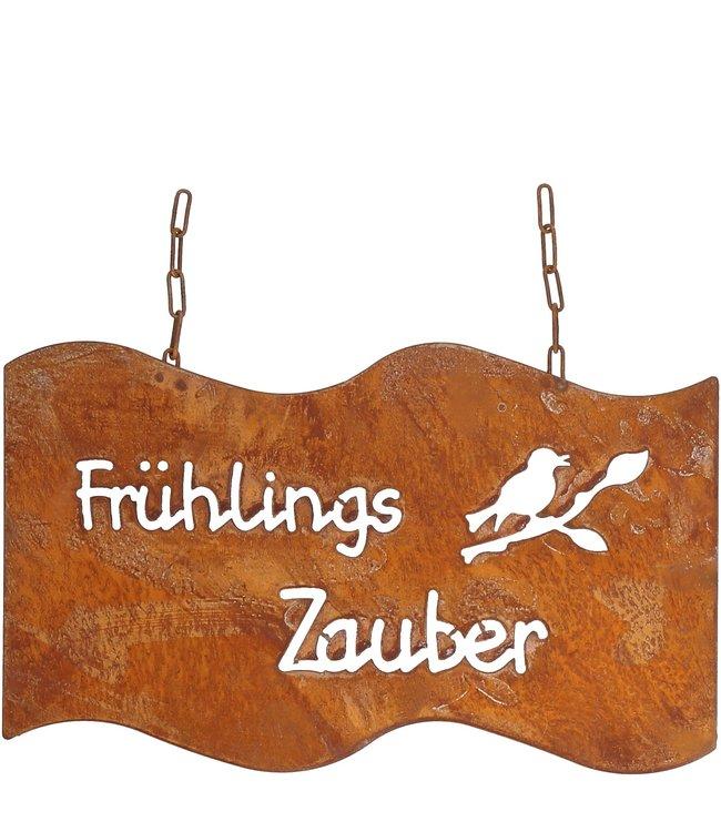 "Gartenschild Rostig ""Frühlingszauber"" Vintage"