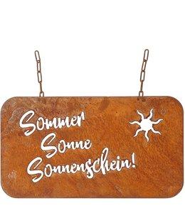 """Gartenschild Rostig """"Sommer, Sonne, Sonnenschein"""""""