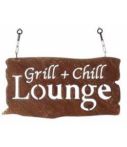 """Gartenschild Rostig """"Grill & Chill Lounge"""" Vintage"""