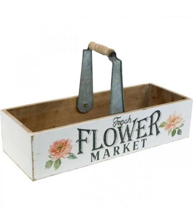 """Holzkiste zum Bepflanzen """"Flower Market"""" Vintage"""