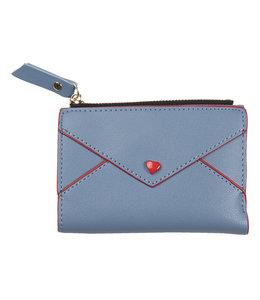 Damengeldbörse Vintage, Altblau