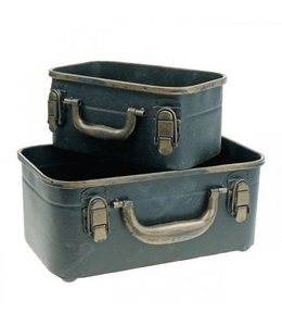 Deko-Koffer, 2er-Set, zum Bepflanzen, Vintage