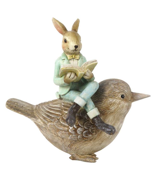 Deko-Vogel mit Hase, Vintage