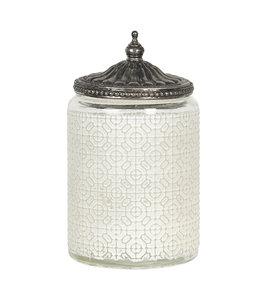 Teelichthalter, Altweiß, Ø 9x14 Vintage
