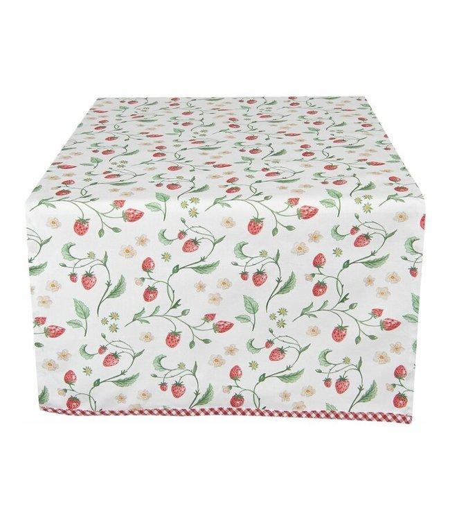 """Tischläufer """"Wald-Erdbeeren"""" Vintage, 50x140"""