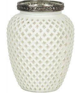 Teelichthalter, Kerzenhalter, Altweiß, Vintage