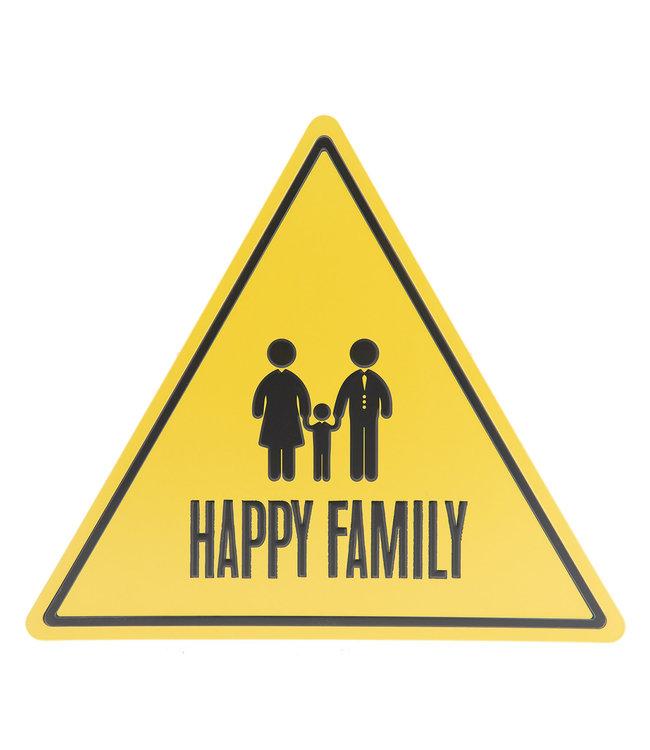 "Deko-Schild ""Happy Family"" Vintage"
