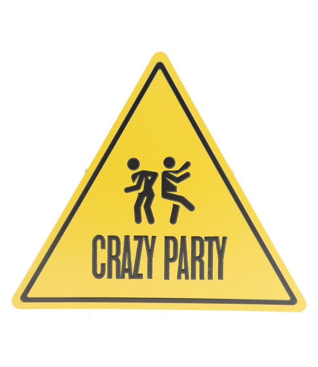 "Deko-Schild ""Crazy Party"" Vintage"
