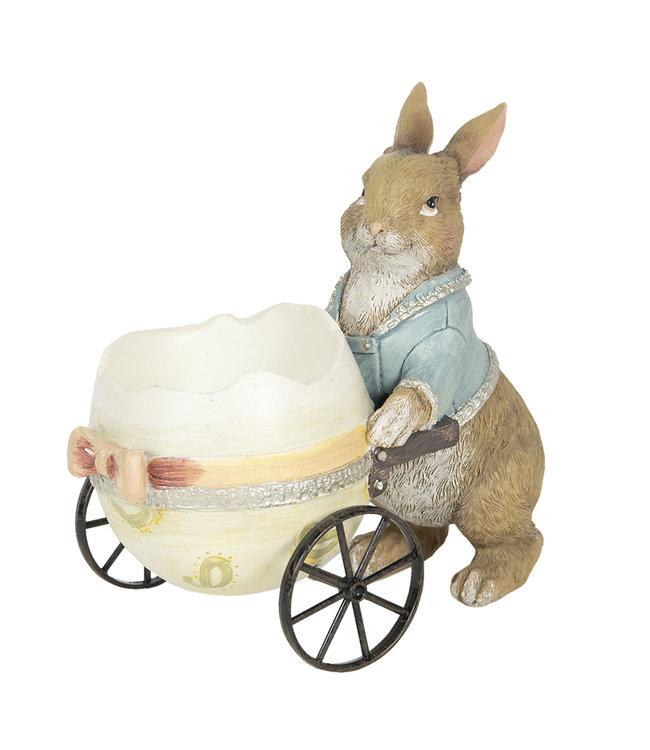 Deko-Kaninchen mit Osterei, Vintage
