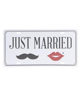 """Deko-Schild """"Just Married"""" Vintage Hochzeitsdeko"""