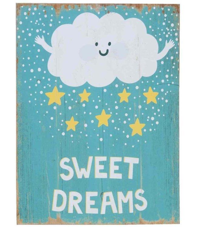 "Deko-Holzschild ""SWEET DREAMS"" Vintage Kinderzimmer-Deko"