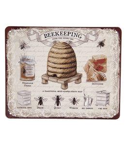 """Deko-Schild """"BEEKEEPING - Bienenhaltung"""" Vintage"""