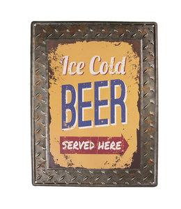 "Deko-Schild ""ICE COLD BEER"" Vintage"