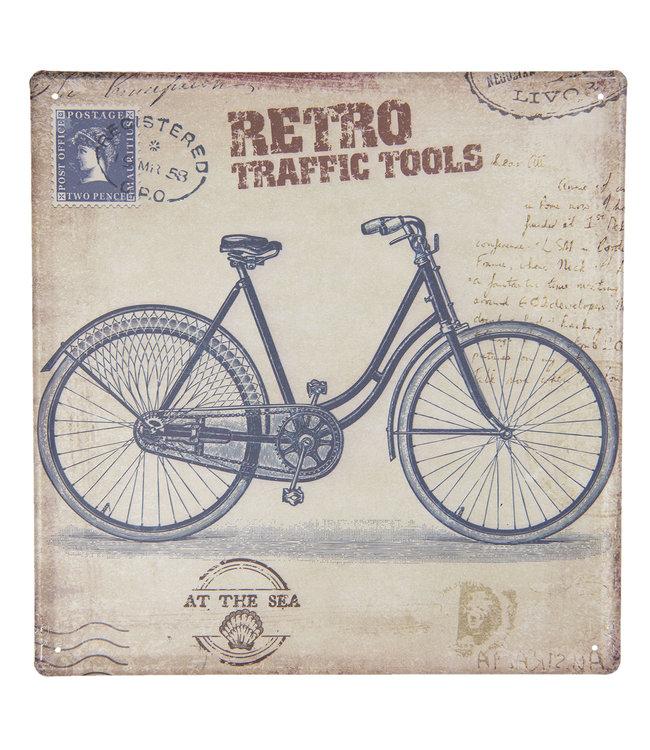 """Deko-Schild """"FAHRRAD - RETRO TRAFFIC TOOLS"""" Vintage"""
