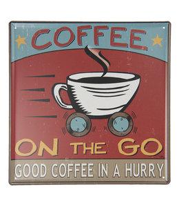 "Blechschild ""COFFEE ON THE GO"" Vintage"