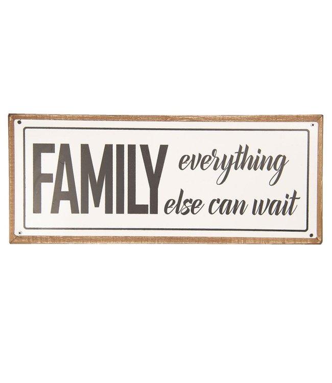 "Textschild ""Family"" Vintage"